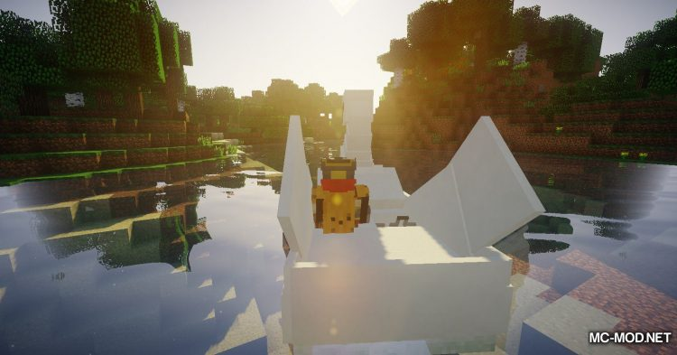 Swan Boats mod for Minecraft (11)