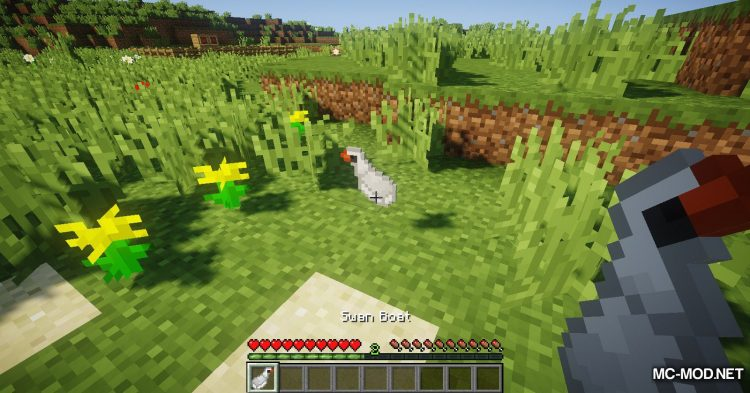 Swan Boats mod for Minecraft (2)