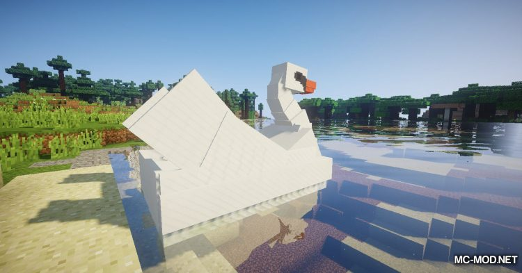 Swan Boats mod for Minecraft (3)