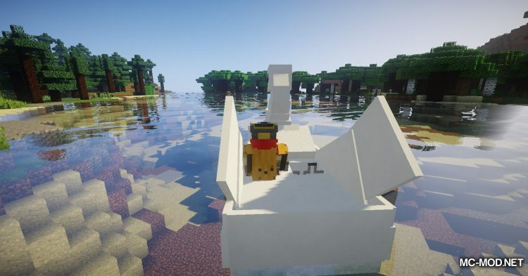 Swan Boats mod for Minecraft (4)