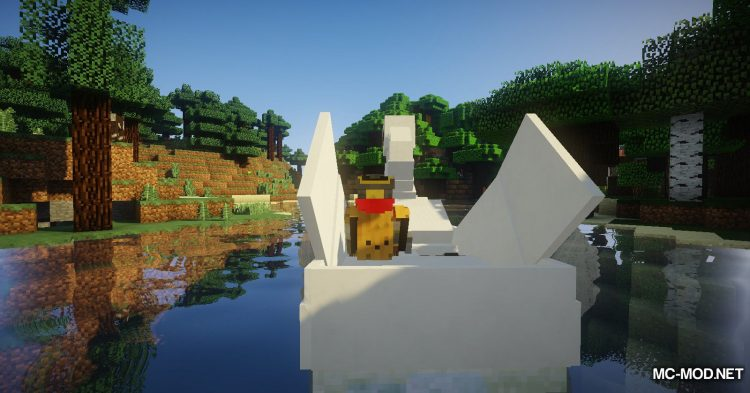 Swan Boats mod for Minecraft (5)
