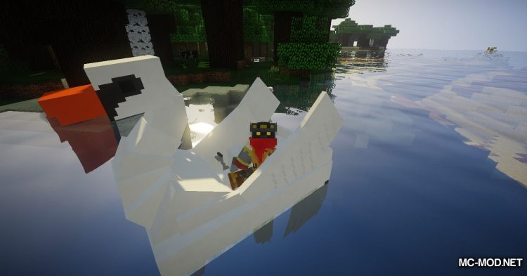 Swan Boats mod for Minecraft (6)