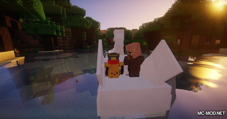 Swan Boats mod for Minecraft (9)