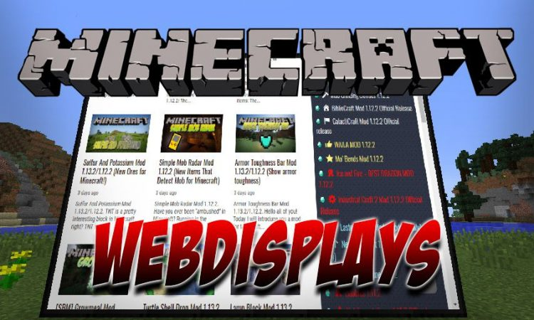 WebDisplays mod for Minecraft logo