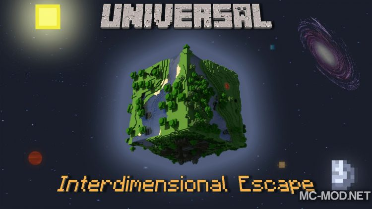 universal interdimensional escape modpack for minecraft logo