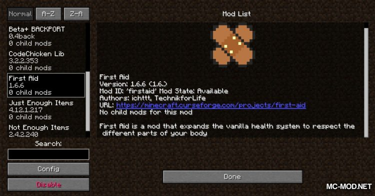 First Aid mod for Minecraft (1)