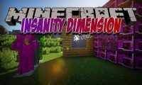 Insanity Dimension mod for Minecraft logo
