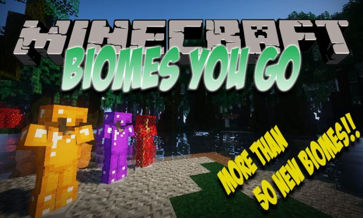 Oh The Biomes You_ll Go mod for Minecraft logo