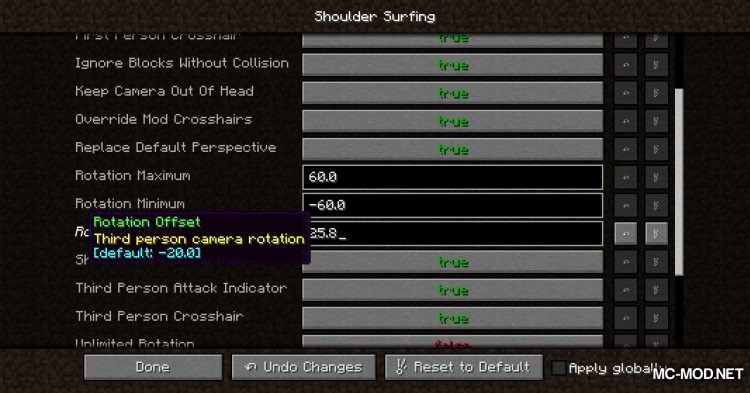 Shoulder Surfing Reloaded mod for Minecraft (9)