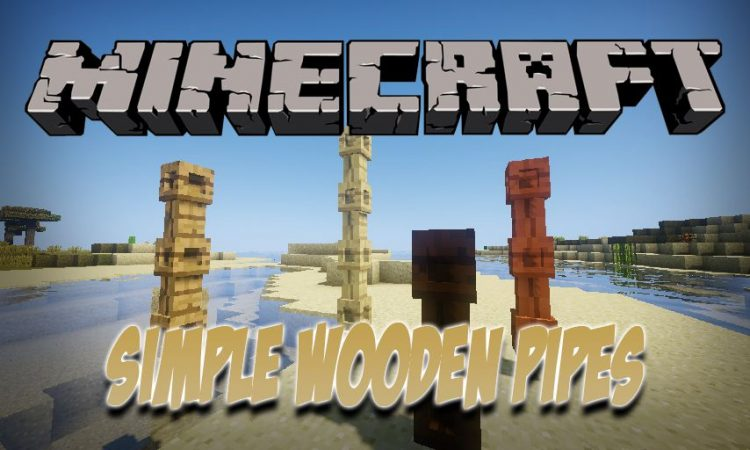Simple Wooden Pipes mod for Minecraft logo