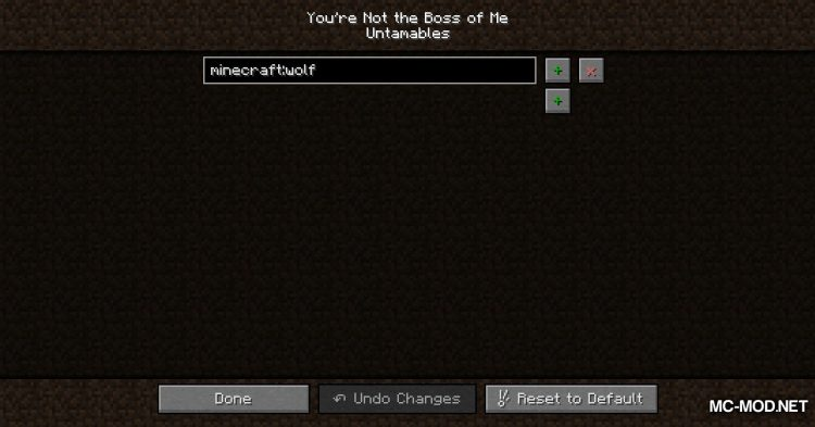 You_re Not the Boss of Me mod for Minecraft (3)