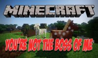 You_re Not the Boss of Me mod for Minecraft logo