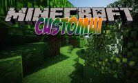 CustomUI mod for Minecraft logo