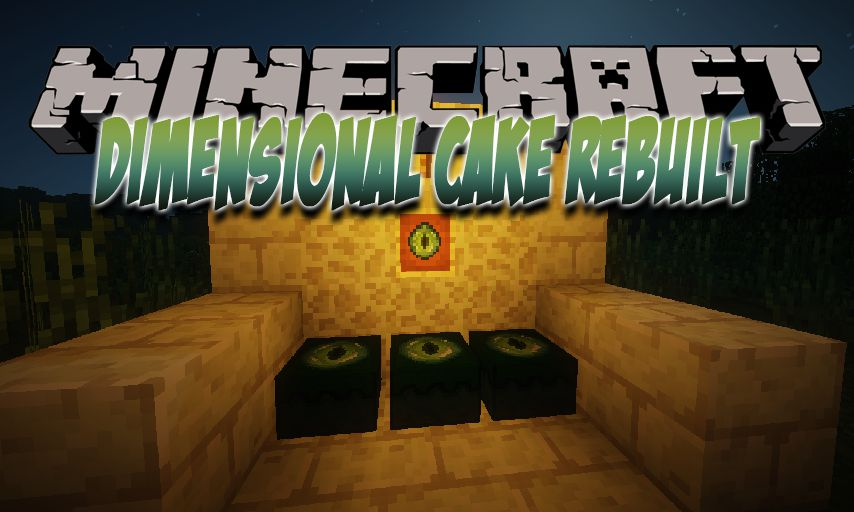 Dimensional Cake Rebuilt mod for Minecraft logo