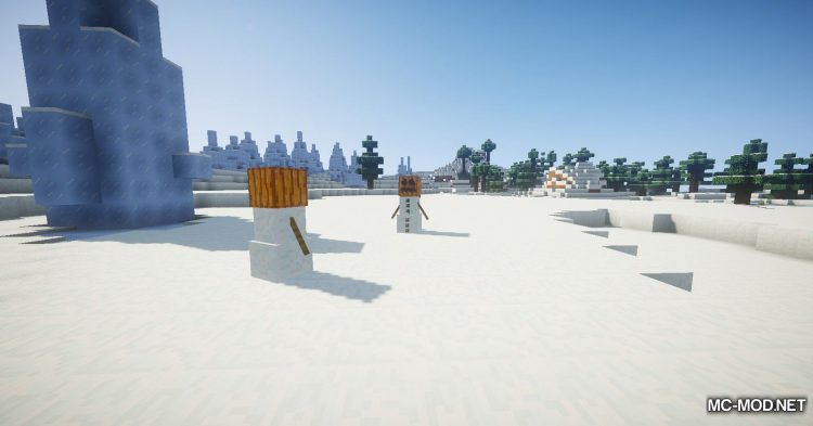 EnhancedSnowman mod for Minecraft (10)