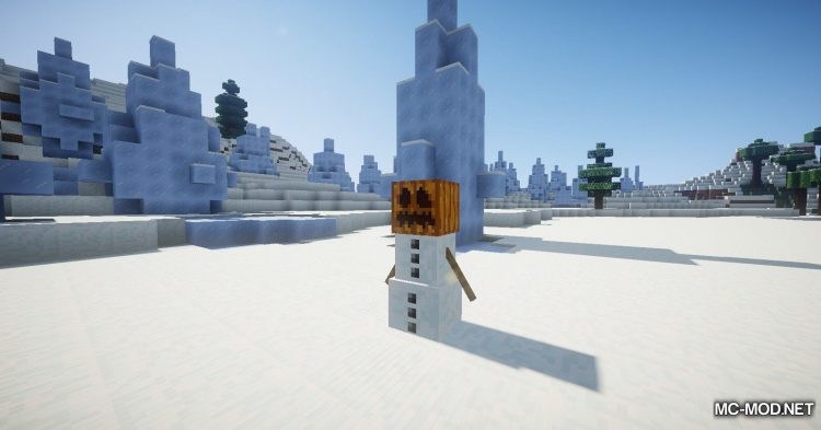 EnhancedSnowman mod for Minecraft (7)