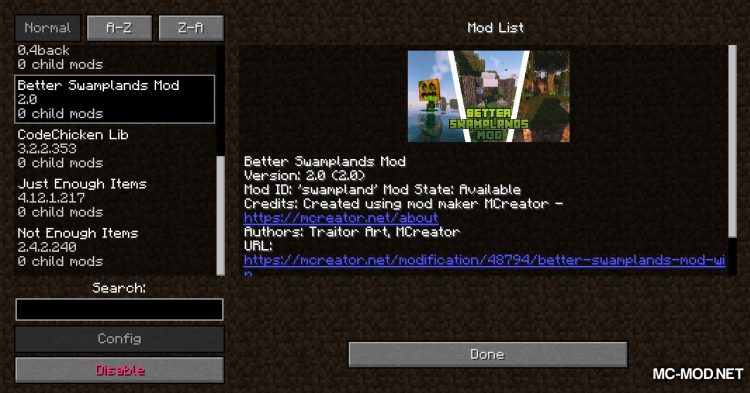 Traitor_s Better Swamplands Mod mod for Minecraft (1)