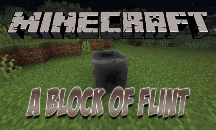 A Block of Flint mod for Minecraft logo