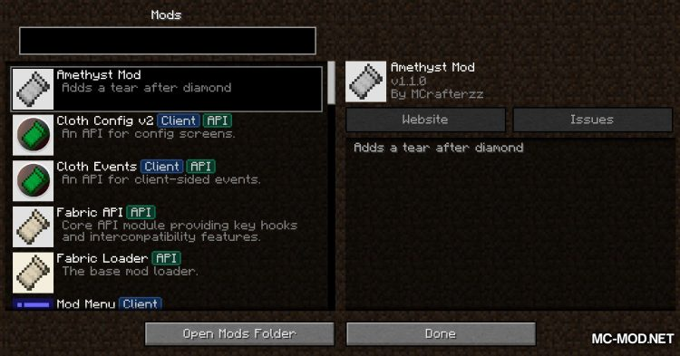 Amethyst Mod mod for Minecraft (1)