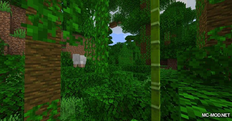 Bamboo Ladders mod for Minecraft (2)