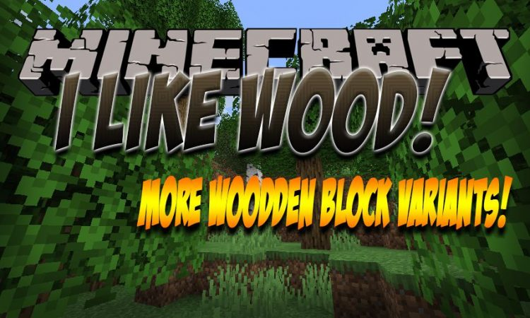 I Like Wood mod for Minecraft logo