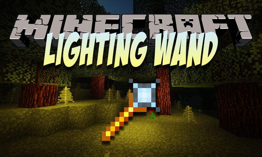 Lighting Wand mod for Minecraft logo
