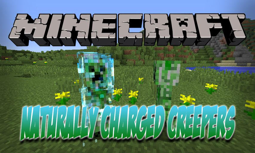 Naturally Charged Creepers mod for Minecraft logo