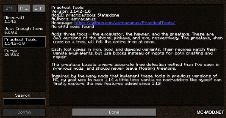 Practical Tools mod for Minecraft (1)