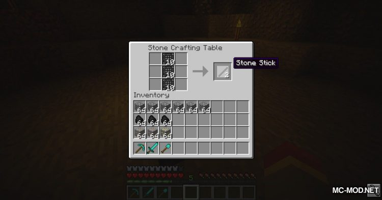 Stone Crafting Table mod for Minecraft (9)