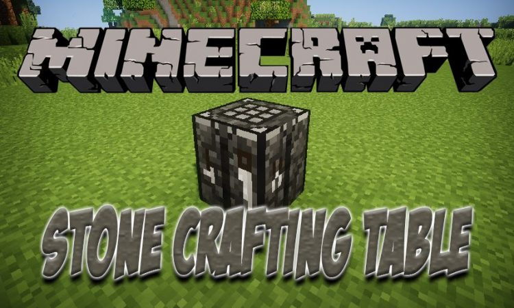 Stone Crafting Table mod for Minecraft logo