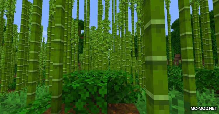 Bamboo Everything mod for Minecraft (3)