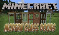 Modern Glass Doors mod for Minecraft logo