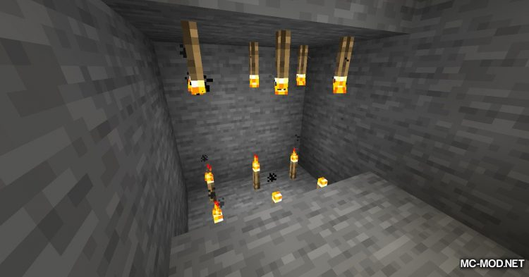 Ceiling Torch mod for Minecraft (7)