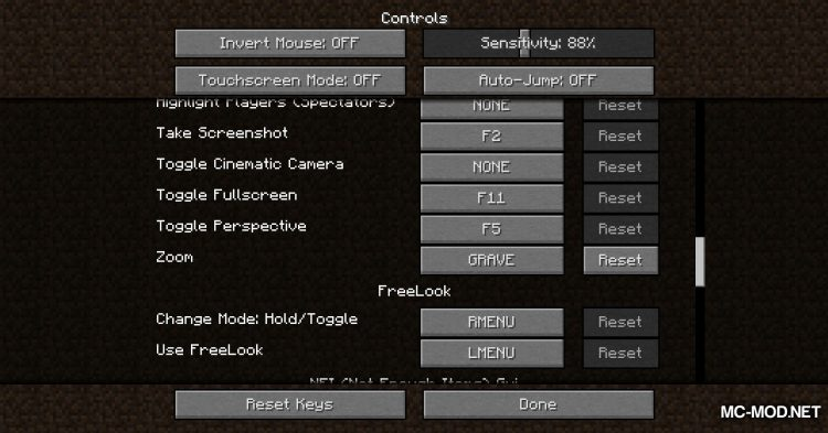 FreeLook mod for Minecraft (9)