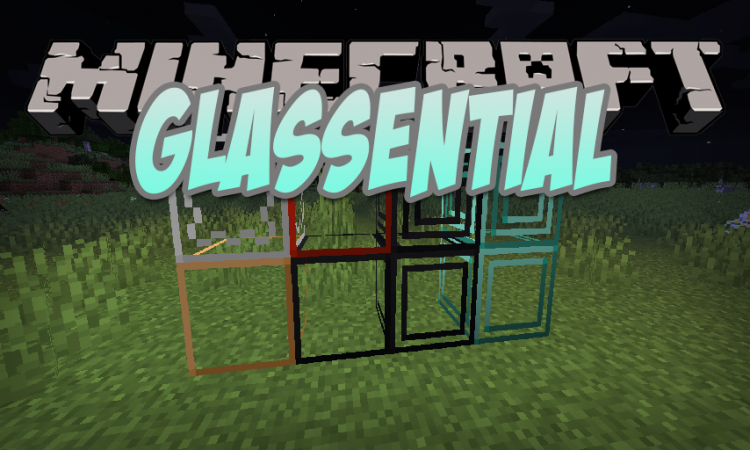 Glassential mod for Minecraft logo