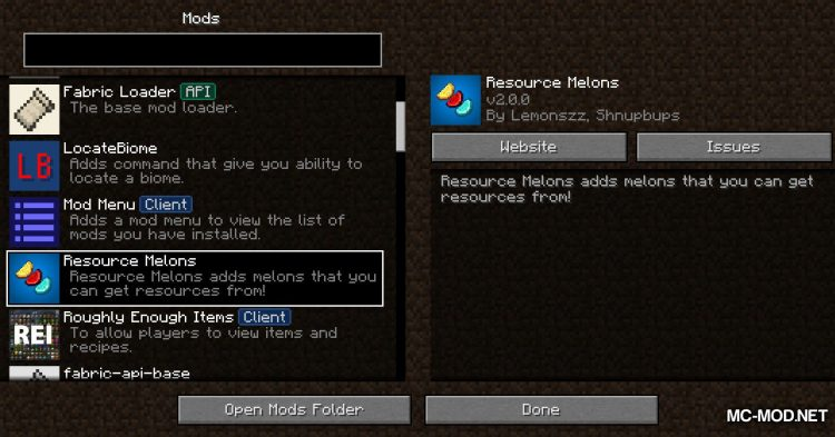 Resource Melons mod for Minecraft (1)
