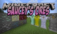 Sauuuuucey_s Ores mod for Minecraft logo