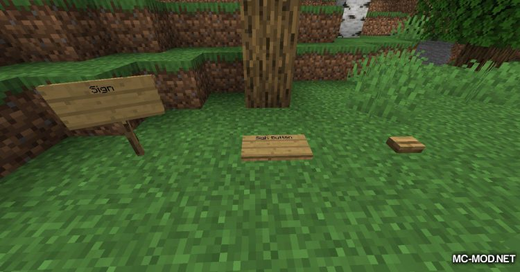 Sign Button mod for Minecraft (5)