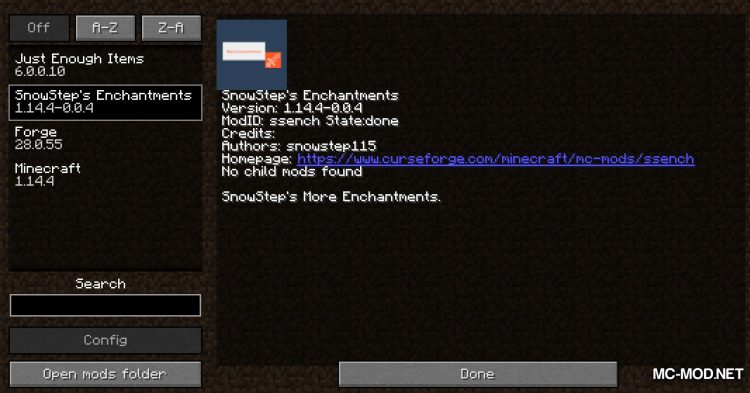 Snowstep_s Enchantments mod for Minecraft (1)