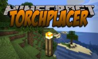 Torchplacer mod for Minecraft logo