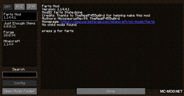 Farts mod for Minecraft (1)