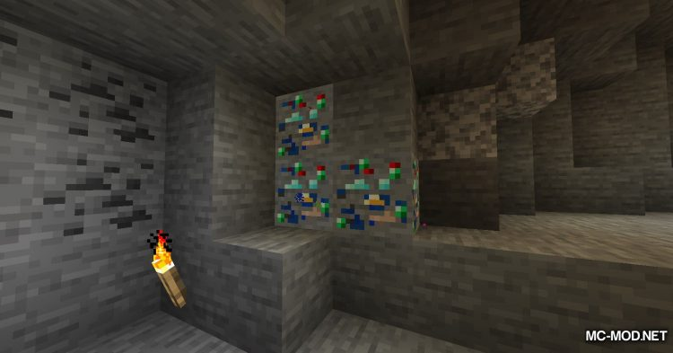 Lucky Ores mod for Minecraft (2)