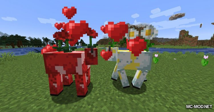Mooblooms mod for Minecraft (7)