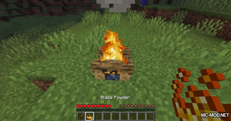Campfire Incense mod for Minecraft (4)