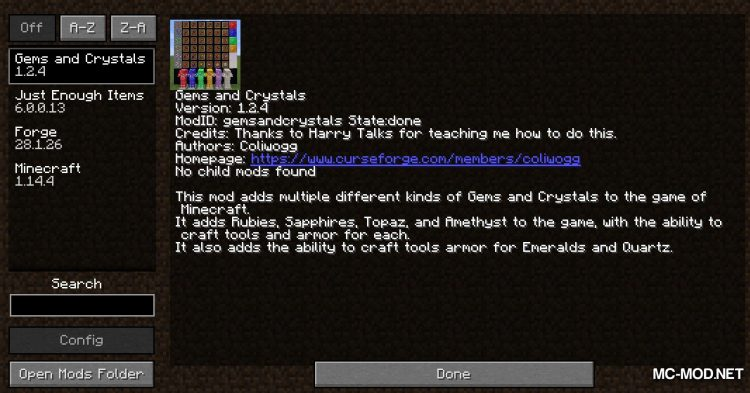 Gems and Crystals Mod mod for Minecraft (1)