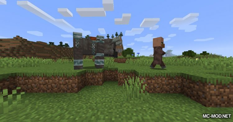All Mobs Attack Villagers mod for Minecraft (11)