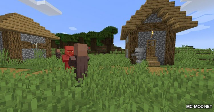 All Mobs Attack Villagers mod for Minecraft (3)