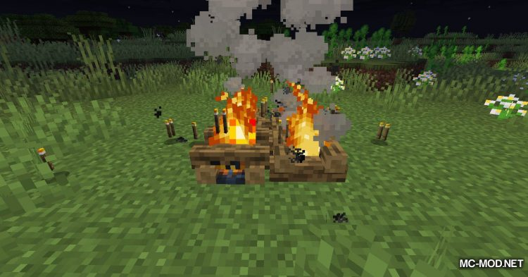 Campfire Torches mod for Minecraft (9)