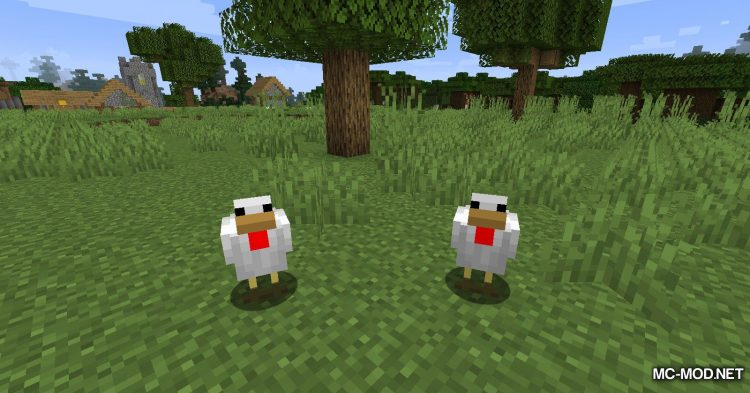 Chicken Feathers mod for Minecraft (10)