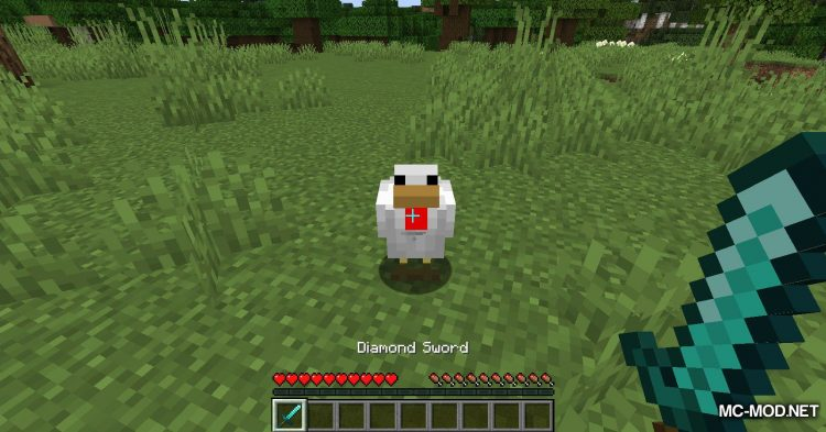 Chicken Feathers mod for Minecraft (3)
